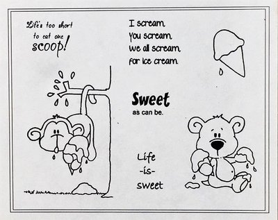 非貝登堡~C.C Designs Rubber Stamps Sweet Treats(甜蜜的款待)