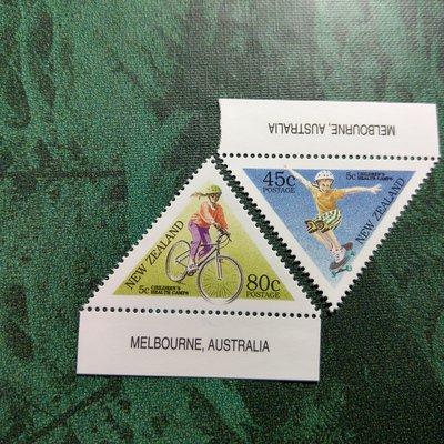 【大三元】紐澳郵票-063紐西蘭 孩子健康營-新票2全1套-原膠上品