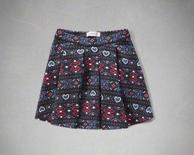 【全新正品】Abercrombie Kids AF pleated neoprene skirt 短裙~XL~2色大人可