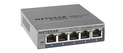 【易霖-交換器】NETGEAR GS105E 5埠Giga簡易網管型交換器 五年保固