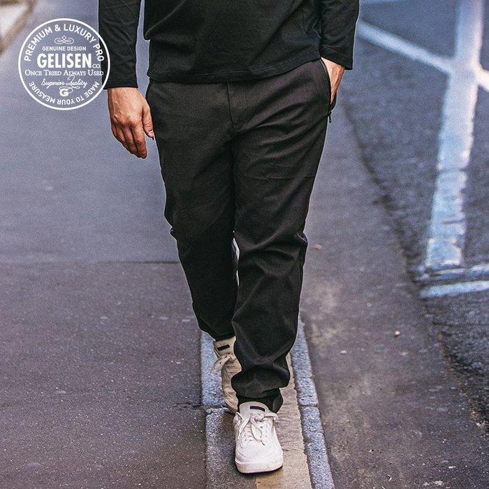 『胖哥大尺碼專賣店』2018寬鬆大碼男裝 男胖子加肥加大褲子時尚分割深灰小腳褲春