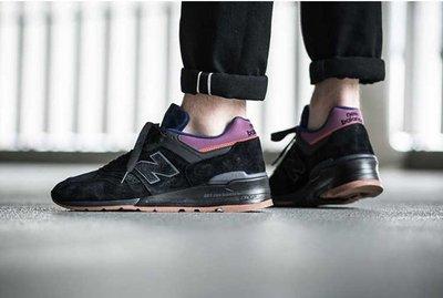 美國製 New Balance 997 新百倫 NB 美產  M997CSS 全黑 藍紫 棕底 經典 麂皮 休閒 男鞋