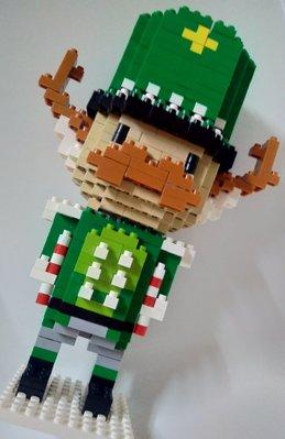 「一番街手作」綠高帽士兵積木娃娃