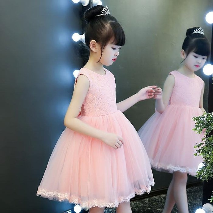 長袖洋裝公主裙女童秋冬洋裝女寶寶周歲禮服花童蓬蓬裙女孩新款裙子