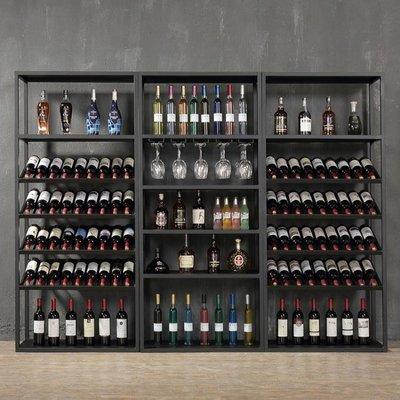 紅酒架 歐式鐵藝紅酒柜展示架落地酒吧酒...