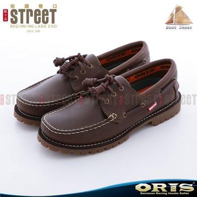 ~街頭巷口 Street~ ORIS 男款 雷根式 帆船鞋 ~ 深咖綠色 934A06~734A06
