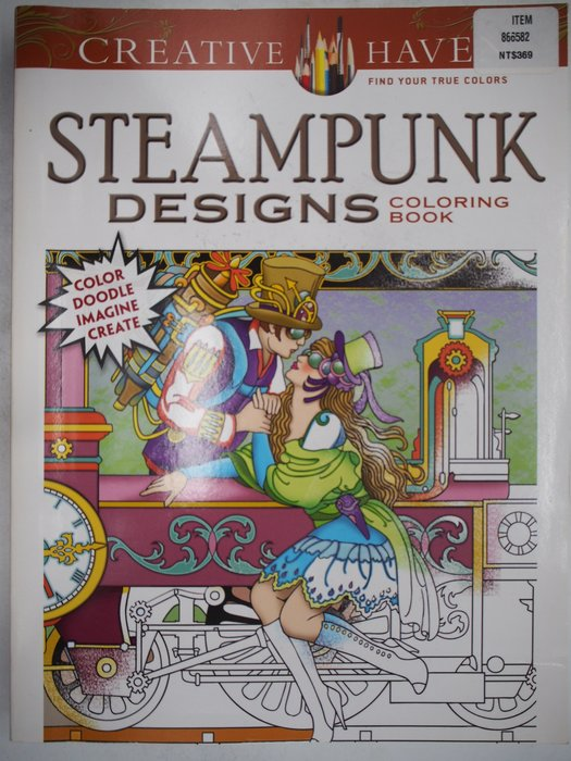 STEAMPUNK DESIGNS-Creative Haven Coloring Books_著色本 〖藝術〗AJK