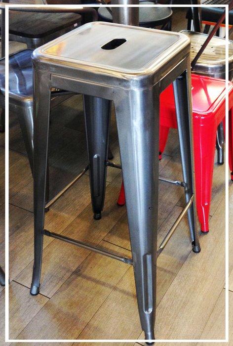 [ 椅子王 ]----原鐵 吧台椅  《SS4》
