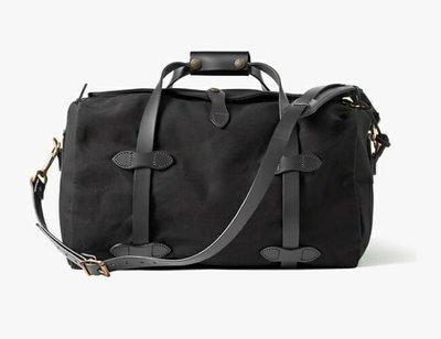 STILLWATER STUDIO  復刻 FILSON 220 Duffle Bag 黑色重磅上蠟帆布 真皮 旅行袋