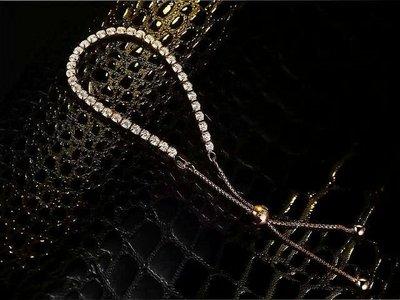 手鍊控高碳鑽925銀包厚白金特價廣告品...