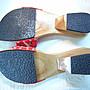 【尋寶坊】手繪手工木箕拖鞋M號~實量前後長23.5公分《低起標.無底價》~最後件