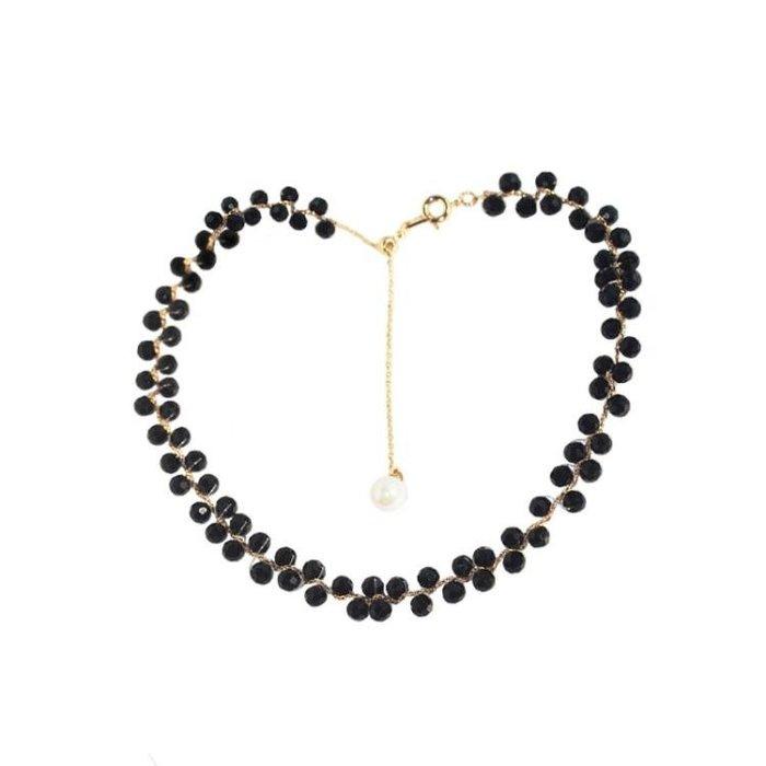YINGYING 氣質珍珠可調節頸鏈時尚簡約項鏈兩用鎖骨鏈女時裝鏈子