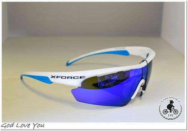 (高雄191) XFORCE 【Thunder 雷鳴】亞洲版雷射眼鏡 『適合亞洲人臉型』藍白