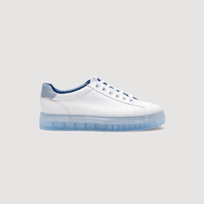 創意夏季女鞋 真皮透氣小白鞋女果凍鞋女板鞋厚底松糕鞋夏季半拖夏款潮鞋白鞋子
