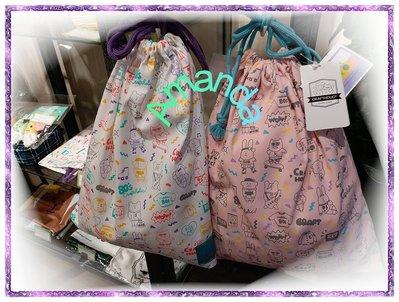 日本帶回 -- CRAFTHOLIC 宇宙人 束口袋/置物包/袋子 ~ 賣場另有 星巴克 櫻花 馬克杯 / 拉拉熊 吊飾