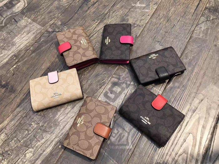 NaNa代購 COACH 53562 53436 多色可選 中夾 零錢包 零錢袋 卡位多 隔層多 必備品 附代購憑證