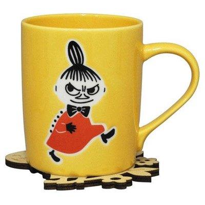 尼德斯Nydus 日本正版 嚕嚕米 Moomin 馬克杯 附造型杯墊 直徑7cm 高9cm 日本製馬克杯 -阿美 小不點
