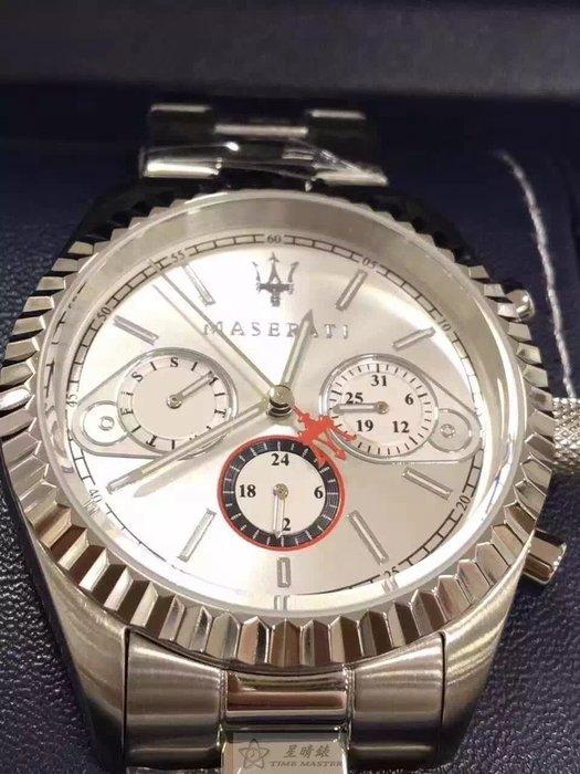 請支持正貨,瑪莎拉蒂手錶MASERATI手錶COMPETIZIONE 款,編號:MA00062,銀錶面銀色精鋼錶鍊錶帶款
