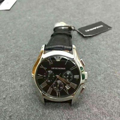 正品 Armani亞曼尼AR男士腕錶潮流時尚三眼計時多功能防水日曆石英手錶男士鏤空曼尼手錶 AR1633 阿瑪尼 手錶 新竹市