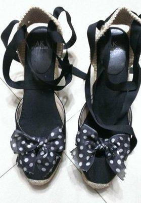 Moon's Flea Market-Anne Klein 楔型綁帶涼鞋