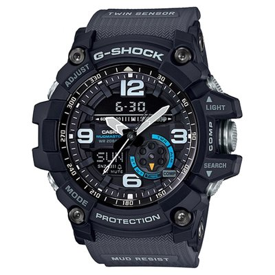 CASIO G-SHOCK MUD resistant GG-1000-1A8 指南針 温度計 WR 200-meter GSHOCK GG1000