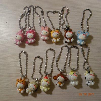 【絕版商品】Hellow Kitty十二星座吊飾(一套12個)