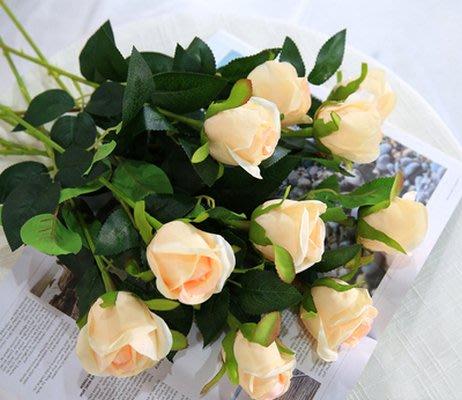 [C.M.平價精品館]現貨出清特價/歐洲仿真玫瑰花 家居客廳裝飾花高檔仿真人造花