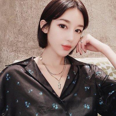 配飾耳環項鏈戒指新款韓國氣質網紅五角星人體疊戴項鏈女珍珠鎖骨鏈潮個性長款項鏈