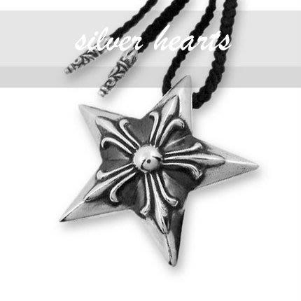 【SILVER HEARTS】代售 Goro's Chrome Hearts克羅心 五芒星雕 純銀墜飾 麂皮項鍊