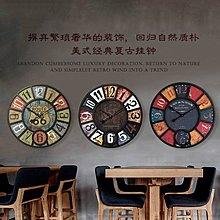 創意美式客廳複古工業風掛鐘咖啡館酒吧服裝店裝飾掛鐘表掛壁時鐘(12款可選)