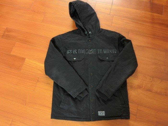 Remix 08 A/W Dash Hooded Work Jacket 全黑鋪棉外套