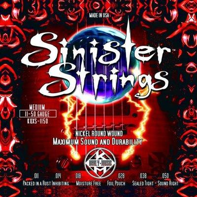 造韻樂器音響- JU-MUSIC - Kerly Strings Sinister 冰火弦 KQXS-1150 (11-50) 美製 電吉他弦