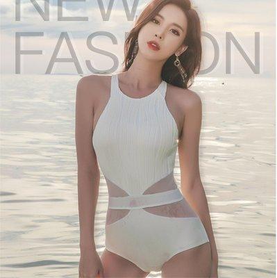網美款泳衣 連身比基尼泳裝 性感網紗 顯瘦腰身設計 修身美背 高品質款 ig拍照網紅人氣款 M15