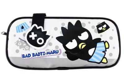【卡漫迷】 酷企鵝 筆袋 大容量 ㊣版 萬用包 化妝包 收納包 旅行 Badtz Maru 鉛筆袋 文具 筆盒 三麗鷗