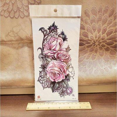 【萌古屋】玫瑰蕾絲小腿手臂大圖 - 男女防水紋身貼紙刺青貼紙XQB-221 K00