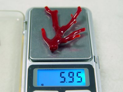 頂級天然深紅珊瑚  阿卡 牛血紅 自然...
