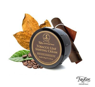 GOODFORIT / 英國Taylor Shaving Cream Tobacco Leaf烘焙菸葉刮鬍膏/150g