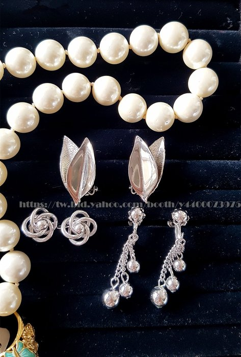 黑爾典藏西洋古董 ~ 美國1960~80's銀葉螺旋銀色coro流蘇夾式耳環 ~Vintage復古老件珠寶