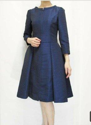 Rene 女裝 藍色洋裝 Rene34=MS GRACY 36日本高級女裝品牌 日幣100000+10税🌸日本女主播最愛🍒誠可小議 免運🍓換季出清