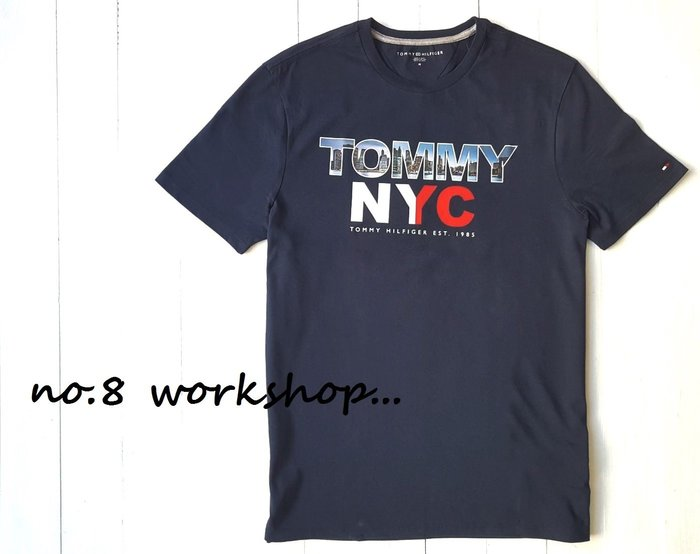 ☆【TH男生館】☆【TOMMY HILFIGER城市NYC印圖短袖T恤】☆【TOM001C6】(S-M-L)11/9