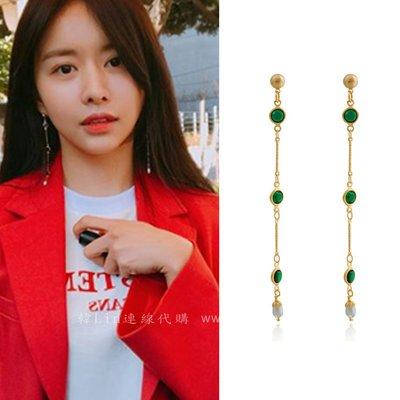 【韓Lin代購】韓國 GET ME BLIN- 明星同款鈦針耳環 GREENERY