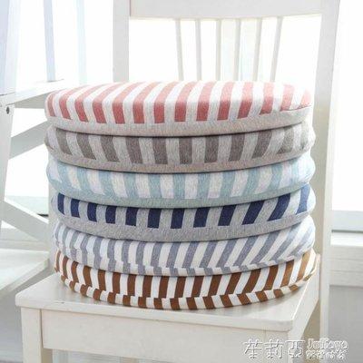 哆啦本鋪 布藝圓形坐墊加厚椅子墊榻榻米藤椅墊家用日式良品記憶棉學生坐墊 D655
