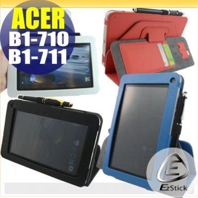 【EZstick】ACER iconia B1 B1-710 B1-711 系列 平板專用皮套(背夾旋轉款式)(加碼送平板機身貼)