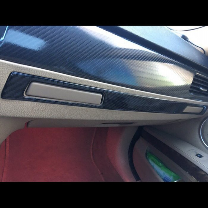 BMW 老3系 水杯架裝飾貼 真碳纖貼 E93E92 320I 325I 320d 330i m3 沂軒精品 A0521
