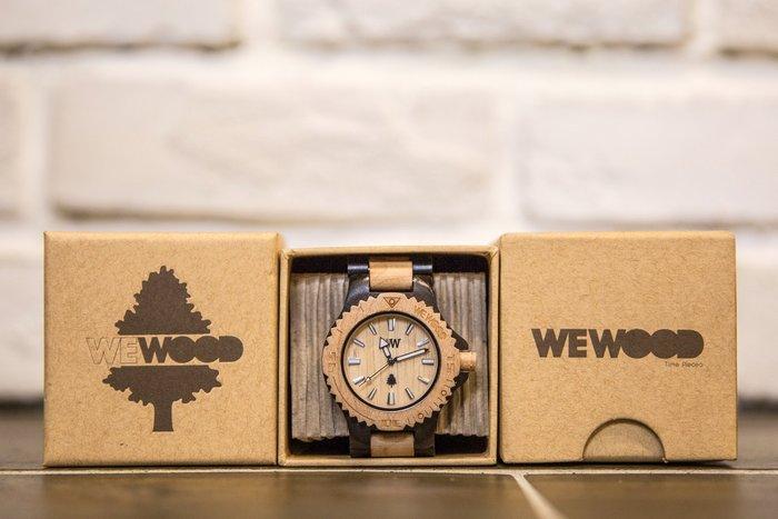 【紐約范特西】 現貨義大利 We Wood WEWOOD KALE Black-BEIGE 木頭錶 黑米色 木頭指針錶