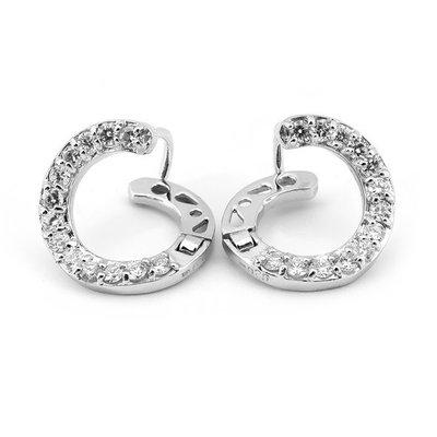 【JHT金宏總珠寶/GIA鑽石專賣】0.50ct天然鑽石耳環/材質:18K(JB25-A063)