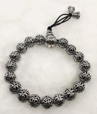 ☆╮Darling Baby ☆香港代購 正生銀飾~葫蘆愛心紋彈性繩手環