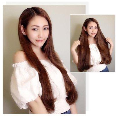 假髮片女長捲髮大波浪長直髮隱形無痕韓系可愛一片式假髮片超自然接髮 內彎接髮假髮片