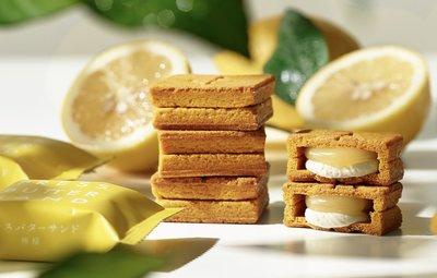 《阿肥小舖》press butter sand 瀨戶內海檸檬 3入 日本中四國地域限定 焦糖奶油夾心餅
