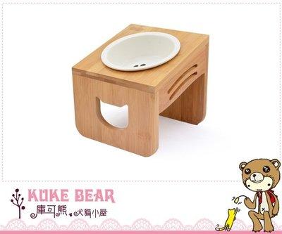 @庫可熊@台中/彰化/草屯  優米卡斜口木頭碗架+陶瓷碗